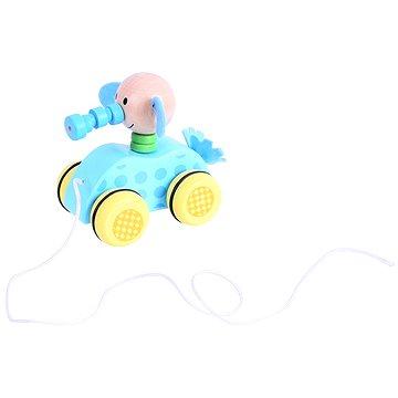 Tahací hračka na provázku - Slůně