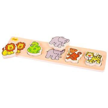 Dřevěné široké vkládací puzzle - Safari