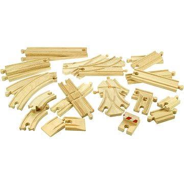 Dřevěné vláčkodráhy - Set kolejí 25 dílů