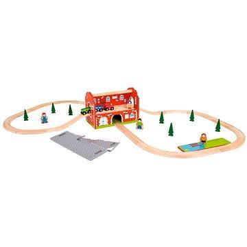 Dřevěné vláčkodráhy - Procházející nádražím 40 dílů