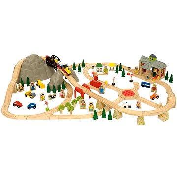 Dřevěné vláčkodráhy - Horská cesta 112 dílů