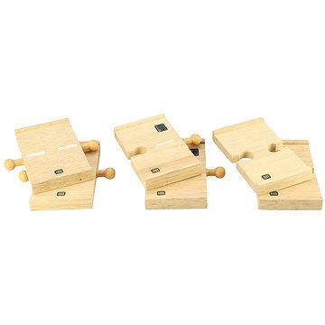 Dřevěné autodráhy - Spojky dřevěné cesty 6ks