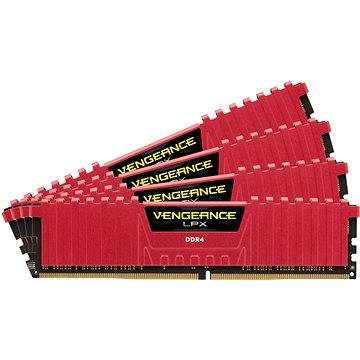 Corsair 16GB KIT DDR4 2666MHz CL16 Vengeance LPX červená
