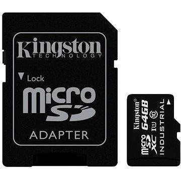 Kingston Micro SDXC 64GB Class 10 UHS-I Industrial Temp + SD adaptér