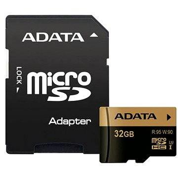 ADATA XPG Micro SDHC 32GB UHS-I U3 Class 10 + SDHC adaptér
