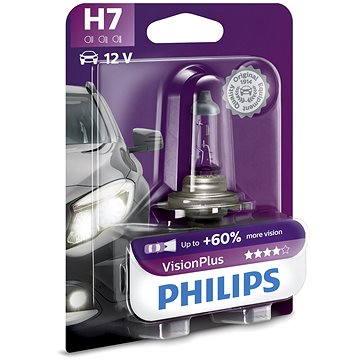 PHILIPS  H7 VisionPlus, 55W, patice PX26d