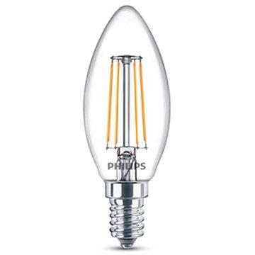 Philips LEDClassic Filament Retro svíčka 4-40W, E14, 2700K, čirá