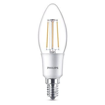Philips LEDClassic Filament Retro svíčka 4-40W, E14, 2700K, čirá, stmívatelná