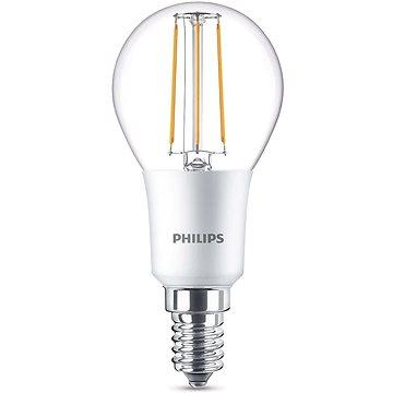Philips LEDClassic Filament Retro kapka 4.5-40W, E14, 2700K, čirá, stmívatelná