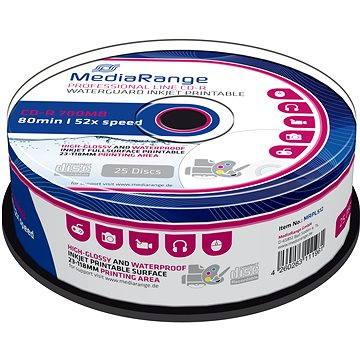 MediaRange CD-R Waterguard 25ks cakebox