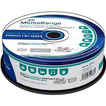 MediaRange DVD+R Dual Layer 8.5GB Injekt Printable, 25ks