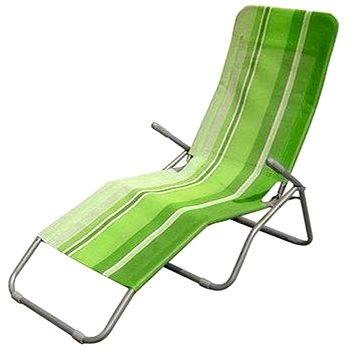 Happy Green Plážové lehátko zelený pruh