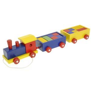 Woody Vlak a 2 vagóny s kostkami
