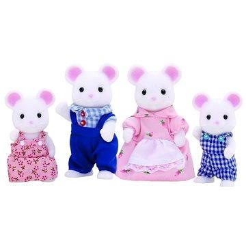 Sylvanian Family - Rodina bílých myšek