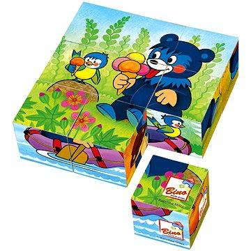Bino Dřevěné kostky - Baribal