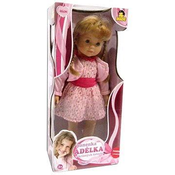 Panenka Adélka v krásných růžových šatech