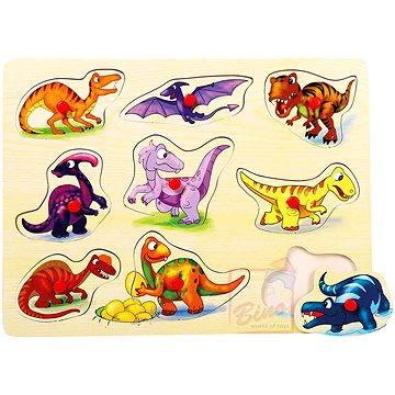 Puzzle na desce - Dinosauři