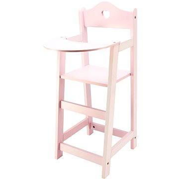 Dřevěná vysoká židlička pro panenky