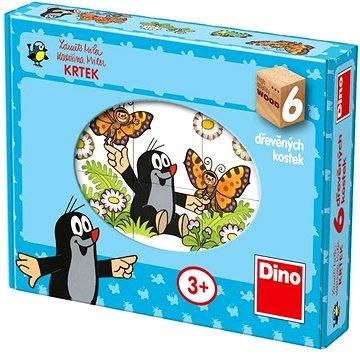 Dino Dřevěné puzzle - Krteček