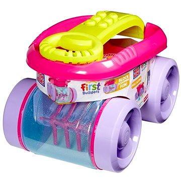 Mega Bloks - Zábavný sběrač kostek růžový