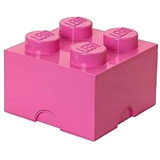 LEGO Friends Úložný box 4 250 x 250 x 180 mm - růžový