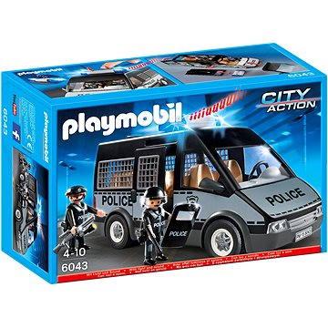 Playmobil 6043 Policejní zásahový vůz s majákem a houkačkou