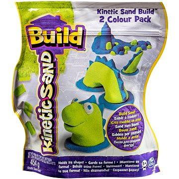 Kinetický písek Build - 2 barevné balení zelená/modrá 450 g