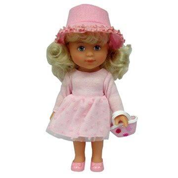 Panenka Adélka s kabelkou a kulatým kloboukem