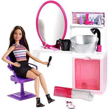 Mattel Barbie - Kadeřnický salón s třpytkami DMM65