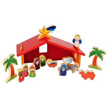 Dětský dřevěný barevný betlém