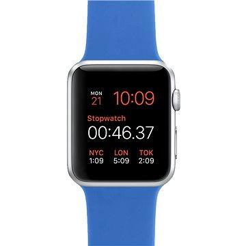 Apple Watch Sport 42mm Stříbrný hliník s královsky modrým řemínkem