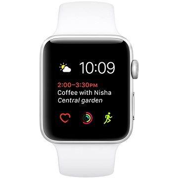 Apple Watch Series 2 38mm Stříbrný hliník s bílým sportovním páskem