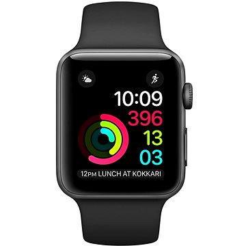 Apple Watch Series 2 38mm Vesmírně šedý hliník s černým sportovním řemínkem