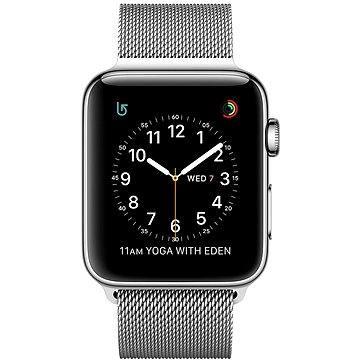Apple Watch Series 2 38mm Nerez ocel se stříbrným milánským tahem
