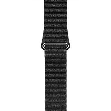 Apple 42mm Černý kožený - Large