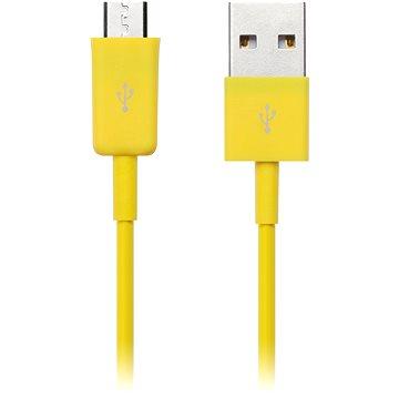 CONNECT IT Colorz Micro USB 1m žlutý