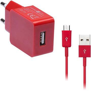 CONNECT IT COLORZ micro USB Charging Combo červený