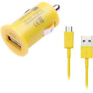 CONNECT IT COLORZ InCarz micro USB Charging Combo žlutý