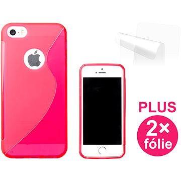 CONNECT IT S-Cover iPhone SE/5/5s červené