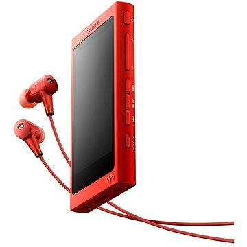 Sony Hi-Res WALKMAN NW-A35 červený + sluchátka MDR-EX750