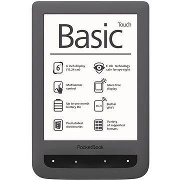 PocketBook 624 Basic Touch šedý