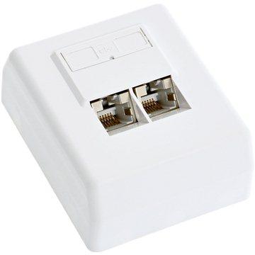 Datacom, CAT5E, STP, 2x RJ45, na omítku