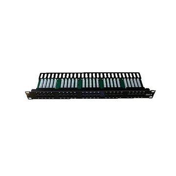 Datacom, ISDN Integrated, 50 portů RJ45 STP kat.3, 1U, černý