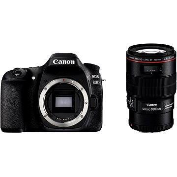 Canon EOS 80D body + EF 100mm F2.8 IS USM Macro