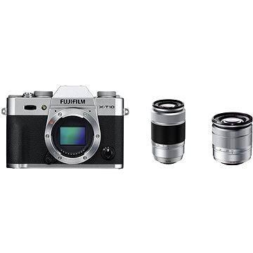 Fujifilm X-T10 Silver + objektivy XC16-50mm + XC50-230mm