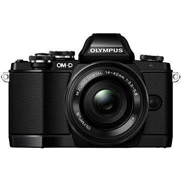 Olympus E-M10 black/black + ED 14-42mm EZ + bateriový grip