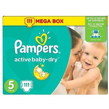 Pampers Active Baby-Dry vel. 5 Junior Mega Box (111 ks)