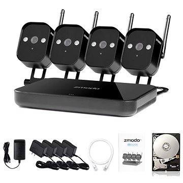 ZMODO 4-kanálový rekordér NVR + 4x IR IP kamera s WiFi