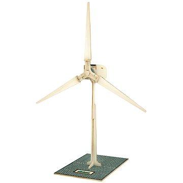 Dřevěné 3D Puzzle - Solární větrná elektrárna