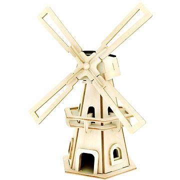 Dřevěné 3D Puzzle - Solární větrný mlýn I
